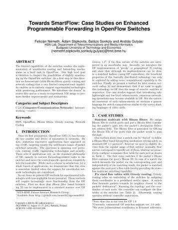 Towards SmartFlow: Case Studies on Enhanced Programmable ...