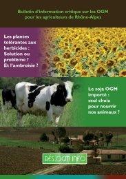 Les plantes tolérantes aux herbicides : Solution ou ... - Rés'OGM info