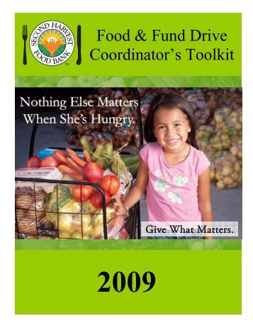 Food & Fund Drive Coordinator's Toolkit - Second Harvest Food Bank