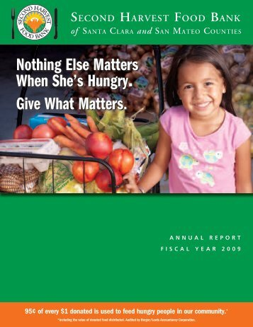 shfb-annual report color v9.indd - Second Harvest Food Bank