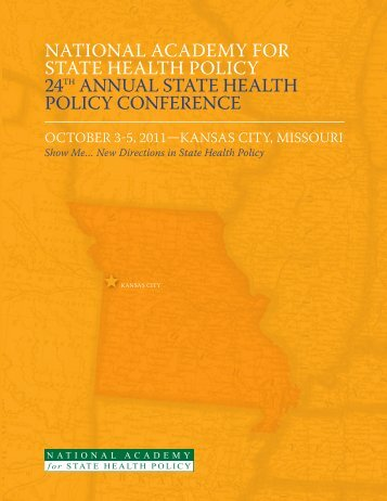 national academy for state health policy 24th annual state health ...