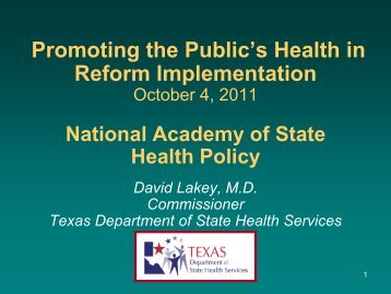 Health Care Quality - National Academy for State Health Policy