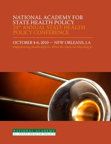 national academy for state health policy 23rd annual state health ...