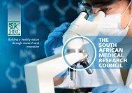 Corporate brochure - SA Medical Research Council