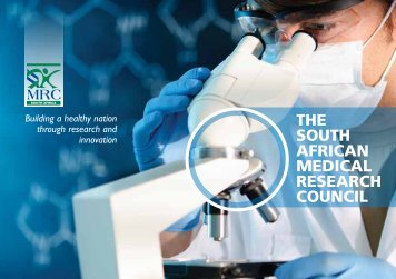Corporate brochure - SA Medical Research Council
