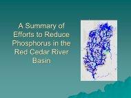 Phosphorus impacts in surface waters