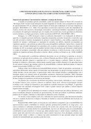 A Previsão de Doenças de Plantas na Transição da Agricultura ...