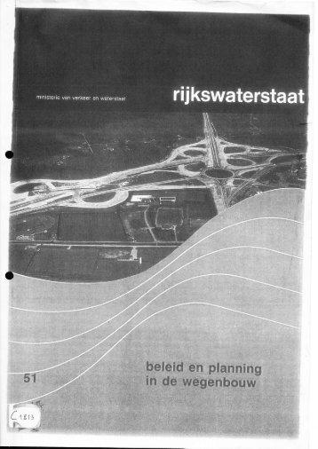 Beleid en planning in de wegenbouw