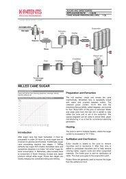 1.02.00 Cane Sugar Process - K-Patents