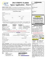 Exhibit Space Application form - AFP