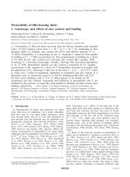 Permeability of illite-bearing shale - College of Geosciences - Texas ...
