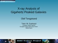 X-ray Analysis of Gigahertz Peaked Galaxies - ESAC Trainee Project