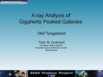 X-ray Analysis of Gigahertz Peaked Galaxies - ESAC Trainee Project