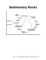 Sedimentary & Metamorphic Rocks