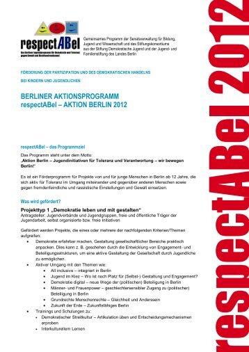 AKTION BERLIN 2012 - respectABel