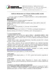 Zadávací dokumentace na veřejnou zakázku malého rozsahu