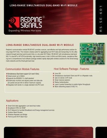 R S - S E - 6 0 1 - Redpine Signals