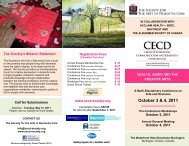 Conference Brochure - Society for the Arts in Dementia Care