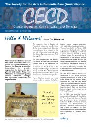 October 2008 Newsletter from Hilary - Society for the Arts in ...