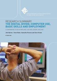 The digital divide - Longitudinal Study of Adult Learning - Portland ...