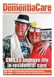 SMILEs improve life in residential care - Society for the Arts in ...