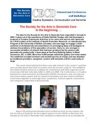 history - Society for the Arts in Dementia Care