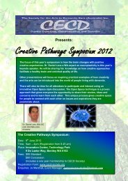 Creative Pathways Symposium 2012 - Society for the Arts in ...