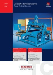 Laufstreifen-Schneidemaschine Tread Cutting Machine