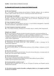 Le domande più frequenti e le risposte dei Medici Generali.