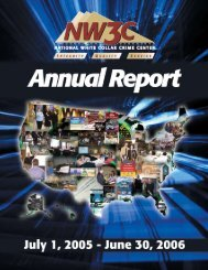 2005-2006 NW3C Annual Report - National White Collar Crime Center