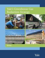 2009 Yale's Greenhouse Gas Reduction Strategy - Yale Sustainability
