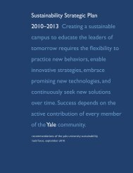 Yale: Sustainability Strategic Plan 2010–2013
