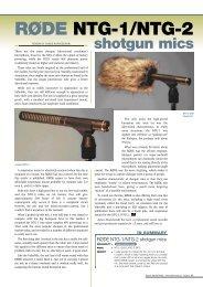 RØDE NTG-1/NTG-2 shotgun mics - Audio:log