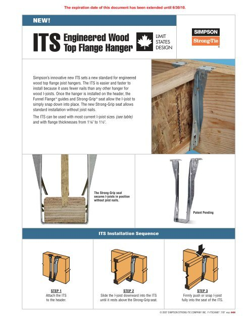 Simpson Strong Tie Top Flange I-Joist Hanger,No ITS2.56//11.88