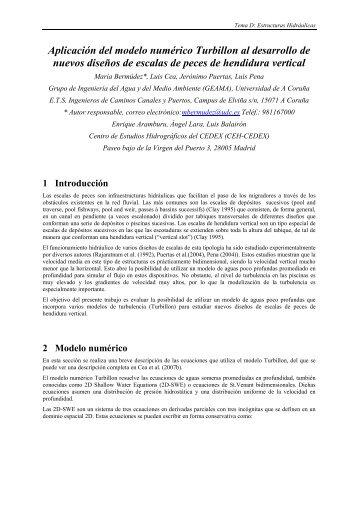 Aplicación del modelo numérico Turbillon al desarrollo de nuevos ...