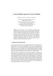 A Meta-Modelling Approach to Feature Modelling - P&P Software