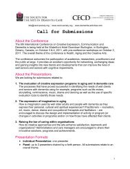 Call for Submissions - Society for the Arts in Dementia Care