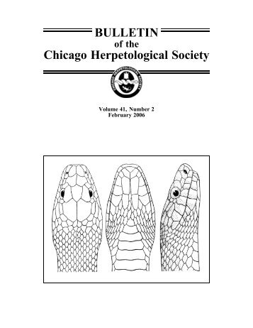 February - Chicago Herpetological Society