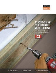 Flier: Strong-Drive® Structural Wood Screws for Interior and Exterior ...