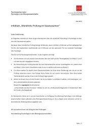 Informationen zur mündlichen Staatsexamensprüfung im Fach ...