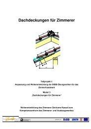 Dachdeckungen für Zimmerer - Holzbau Kompetenzzentren