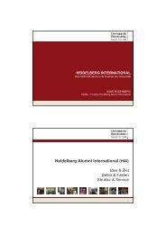 Heidelberg Alumni International (HAI)