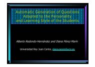 Automatic Generation of Questions Adapted to the ... - aDeNu