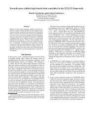 Towards more realistic logic-based robot controllers in ... - Informatik 5