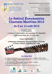 Festival Eurochestries Charente-Maritime