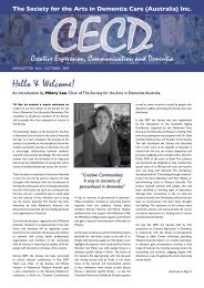 October 2007 Newsletter from Hilary - Society for the Arts in ...