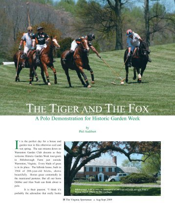 THE TIGER AND THE FOX - The Virginia Sportsman