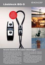 IG BG-S LÃ¥sbleck ny.pdf - IronGrip