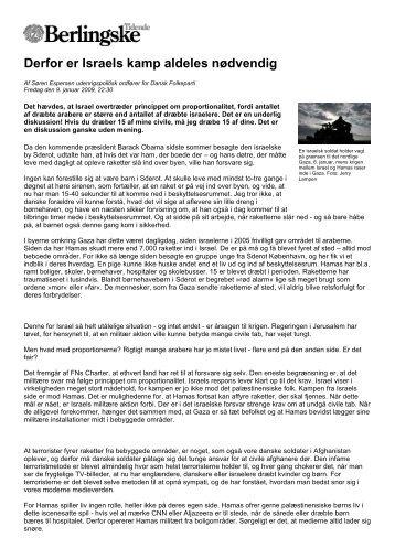 Derfor er Israels kamp aldeles nødvendig - kotel.dk
