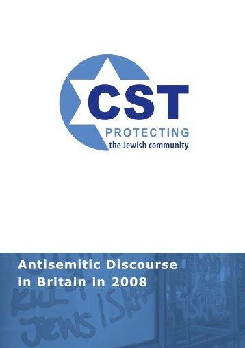 Antisemitic Discourse - Community Security Trust